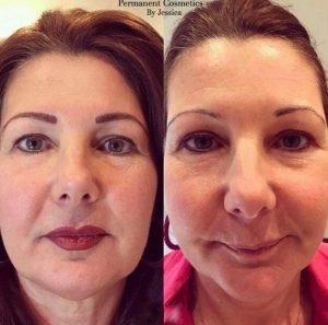 Semi permanent lip blush by Jess