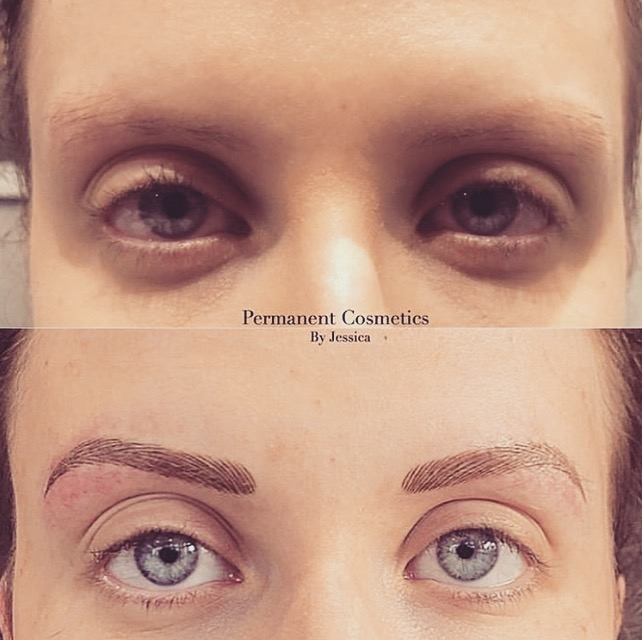 Semi permanent make up - finished result